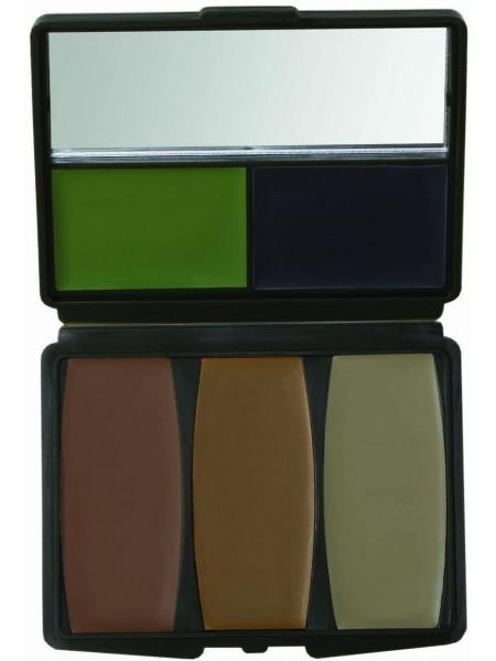 Краска грим, 5 цветов с зеркалом,  Hunters Specialties Military Forest Digital Makeup Kit