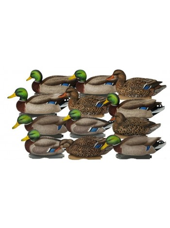 Чучела кряквы  Avery GreenHead Gear Pro-Grade XD Series Mallards-Harvester 12-Pack, комплект из 12 штук