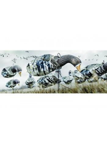 Чучела гуся белолобого Deadly Decoys (флюгера), комплект 12 штук