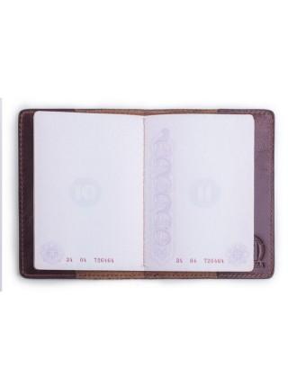 Обложка для паспорта коричневая