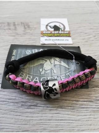 Браслет Duck  Commander, розовый/камуфляж/черный