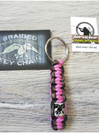 Брелок Duck  Commander, розовый/камуфляж/черный