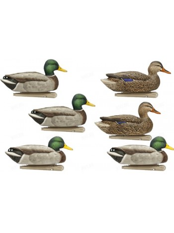 Чучела кряквы Avian-X Topflight Mallard Decoys - Open Water, 6 штук