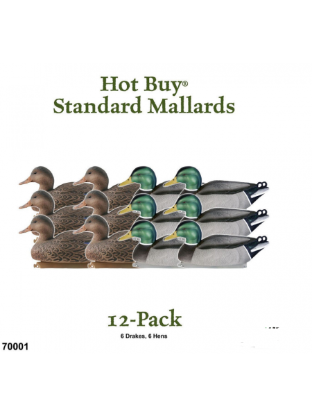 Чучела кряквы GreenHead Gear Hot Buy Standard Mallards, 12 штук