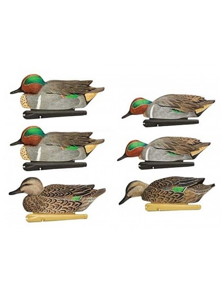 Чучела чирков Avian-X  - TOPFLIGHT Green-Winged Teal,6 штук