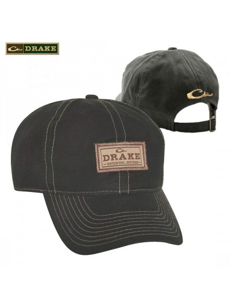 Кепка Drake черная промасленная