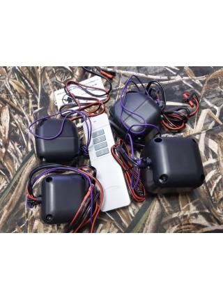 Комплект электронных звукоимитаторов голоса перепела  с дистанционным управлением