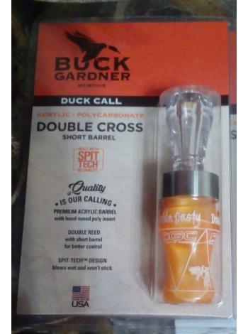 Манок на утку Buck Gardner Double Nasty 3 (Douible Cross) акрил-поликарбонат  - оранжевый/прозрачный