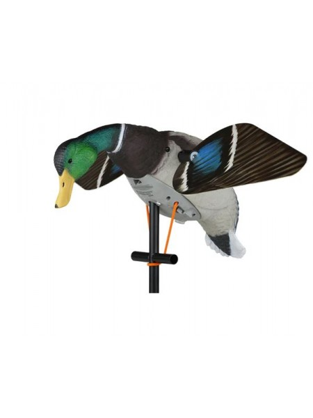 Чучело кряквы Lucky Duck увеличенное с вращающимися крыльями - Super Lucky HD (селезень)
